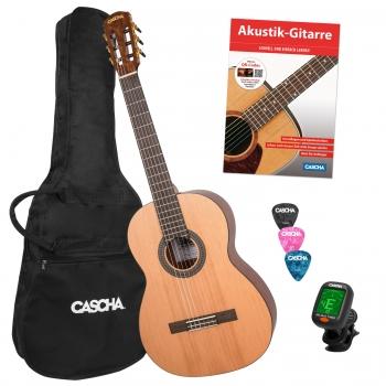 Cascha Gitarren-Set inkl. Gigbag, Stimmgerät, Picks und Lernheft